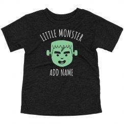Custom Name Little Monster Halloween