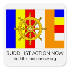 "Buddhist Action Now 2.25"" Magnet"