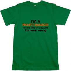 I'm a project manager