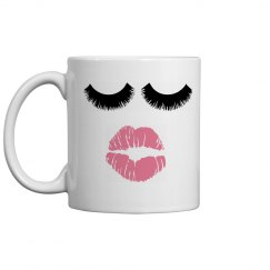 coffee mug eyelashes
