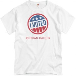 I Voted Russian Hacker Costume