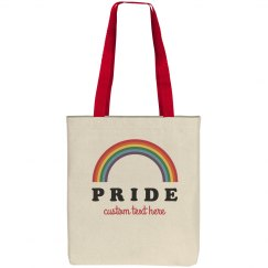 Custom Text Pride Tote Bag