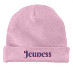 Pink Infant Hat w/ Pink Outline