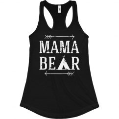 Mama Bear Blk/Wht Tank