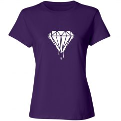 Ladies Dripping Diamond Crewneck Tee