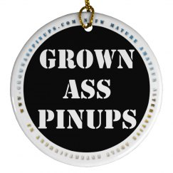 GrownAssPinups.com Christmas Ornament