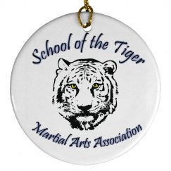 Porcelain Circle Ornament with Logo