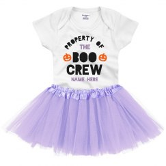 Property of the Boo Crew Custom Baby Tutu & Onesie