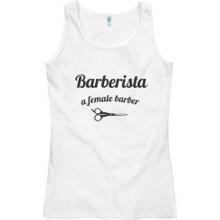 Barberista Tank Top - White