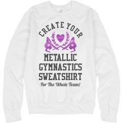 Metallic Custom Gymnastic Sweats