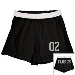 Taurus Sporty Zodiac Cheer Short