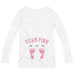 Custom Due Date Team Pink