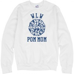Pom Mom Crewneck - White