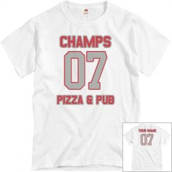 Champs 4 - White, Red & Grey - CUSTOMIZABLE WITH NAME