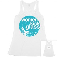Women Kick Glass Logo Flowy Racer Back