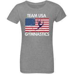 Youth USA Gymnastics Tee