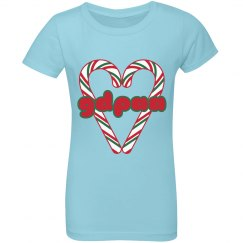 GDPAA Girls Ruffle Holiday T-shirt