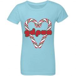 GDPAA Girls Ruffle Holiday T-shirt