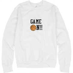 Basketball Game On Sweatshirt wht