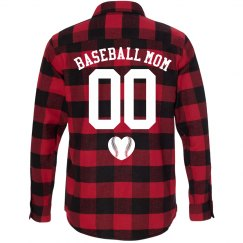 Baseball Mom Custom Flannel Shirts