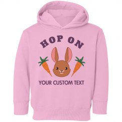 Custom Hop On Easter Bunny Kid