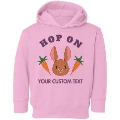 Custom Hop On Easter Bunny Kid