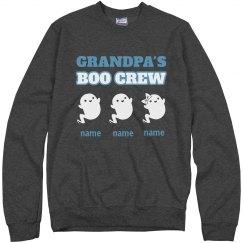 Made-To-Order Name Granpa's Boo Crew Sweatshirt