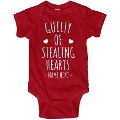 Guilty of Stealing Hearts Custom Onesie