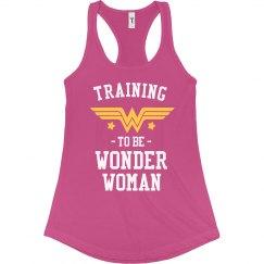 Wonder Woman Workout Racerback