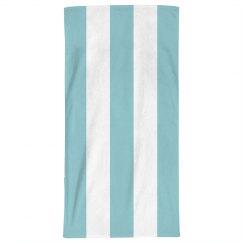 Blue And White Stripe Beach Towel