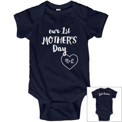 Custom Initials Mother's Day Onesie