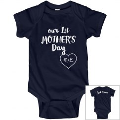 Custom Initials Mother's Day Onesie