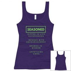 Seasoned Woman Tank Black/ Neon Green