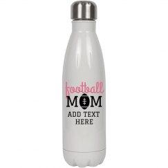 Football Mom Custom Water Bottle