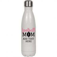 Football Mom Custom Water Bottle