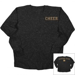 Custom Gold Metallic Cheer Jersey