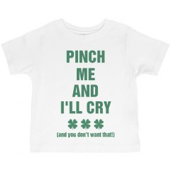Pinch Me Cute St Pattys Kid Tee