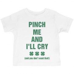Pinch Me Cute St Pattys Kid Tee