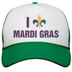 I Love Mardi Gras Fleur De Lis