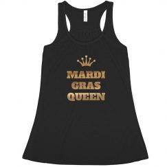 Metallic Gold Mardi Gras Queen