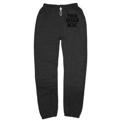 Custom Canvas Long Scrunch Sweatpants
