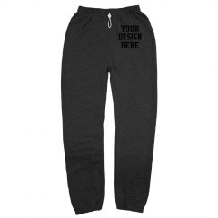 Custom Canvas Long Scrunch Sweatpants