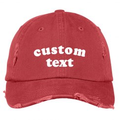 Add Your Custom Text to a Distressed Hat