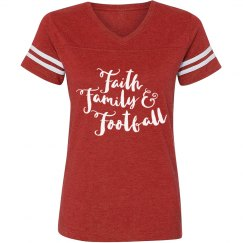 Faith Family & Football Vintage Tee