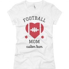 Football Mom Custom Team Basic Tee