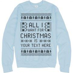 Custom Ugly Sweater Gift