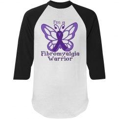 I'm a Fibromyalgia Warrior Raglan Tee