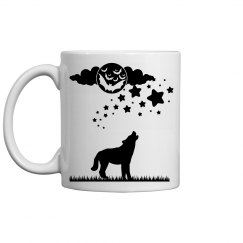 Midnight wolf mug