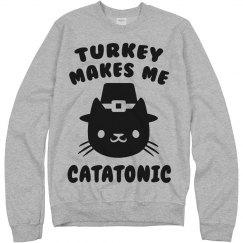 Thanksgiving Cat Shirt
