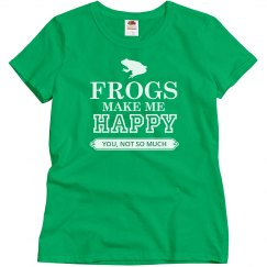 Frogs make me happy
